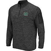Colosseum Men's Marshall Thundering Herd Grey Quarter-Zip Shirt