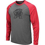 Colosseum Men's Maryland Terrapins Grey Rad Tad Raglan Long Sleeve T-Shirt