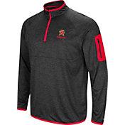 Colosseum Men's Maryland Terrapins Grey Indus River Quarter-Zip Shirt