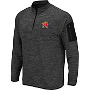 Colosseum Men's Maryland Terrapins Grey Quarter-Zip Shirt