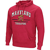 Colosseum Men's Maryland Terrapins Red Campus Pullover Hoodie