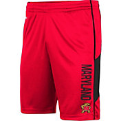 Colosseum Men's Maryland Terrapins Red Grizzly Shorts