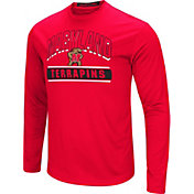 Colosseum Men's Maryland Terrapins Red Ganges Long Sleeve T-Shirt