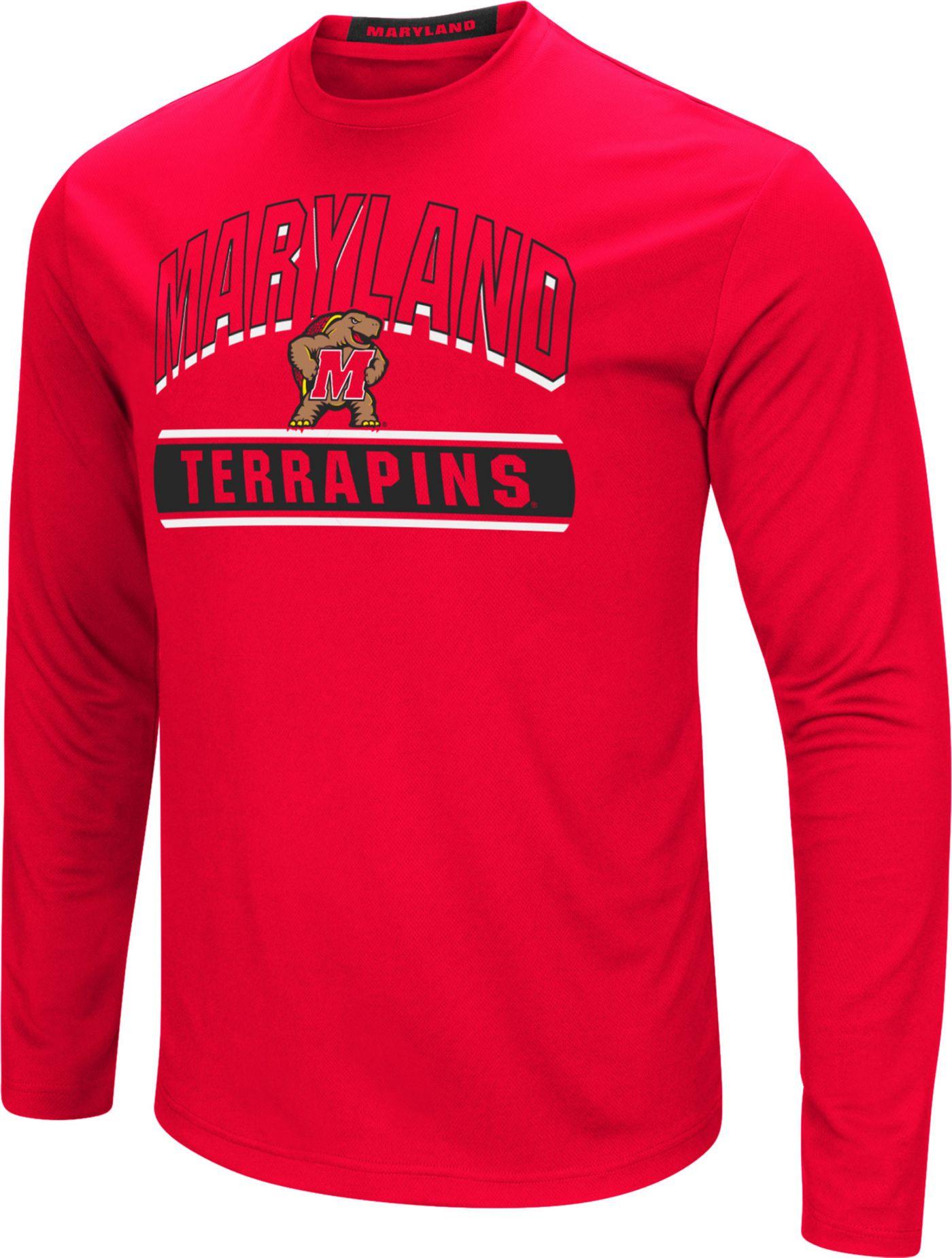 Colosseum Men's Maryland Terrapins Red Ganges Long Sleeve T-Shirt