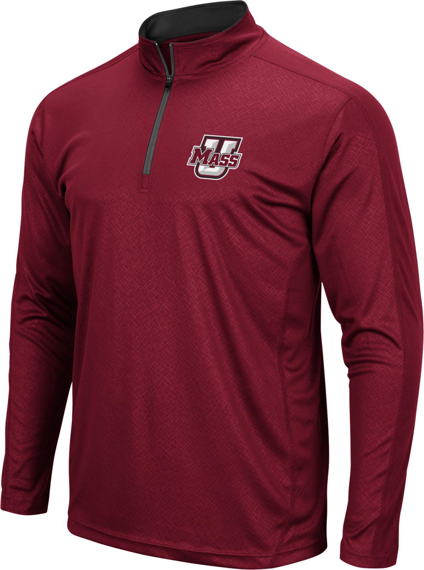 Colosseum Men's UMass Minutemen Maroon Loggerhead Quarter-Zip Shirt