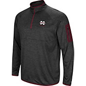 Colosseum Men's Mississippi State Bulldogs Grey Indus River Quarter-Zip Shirt