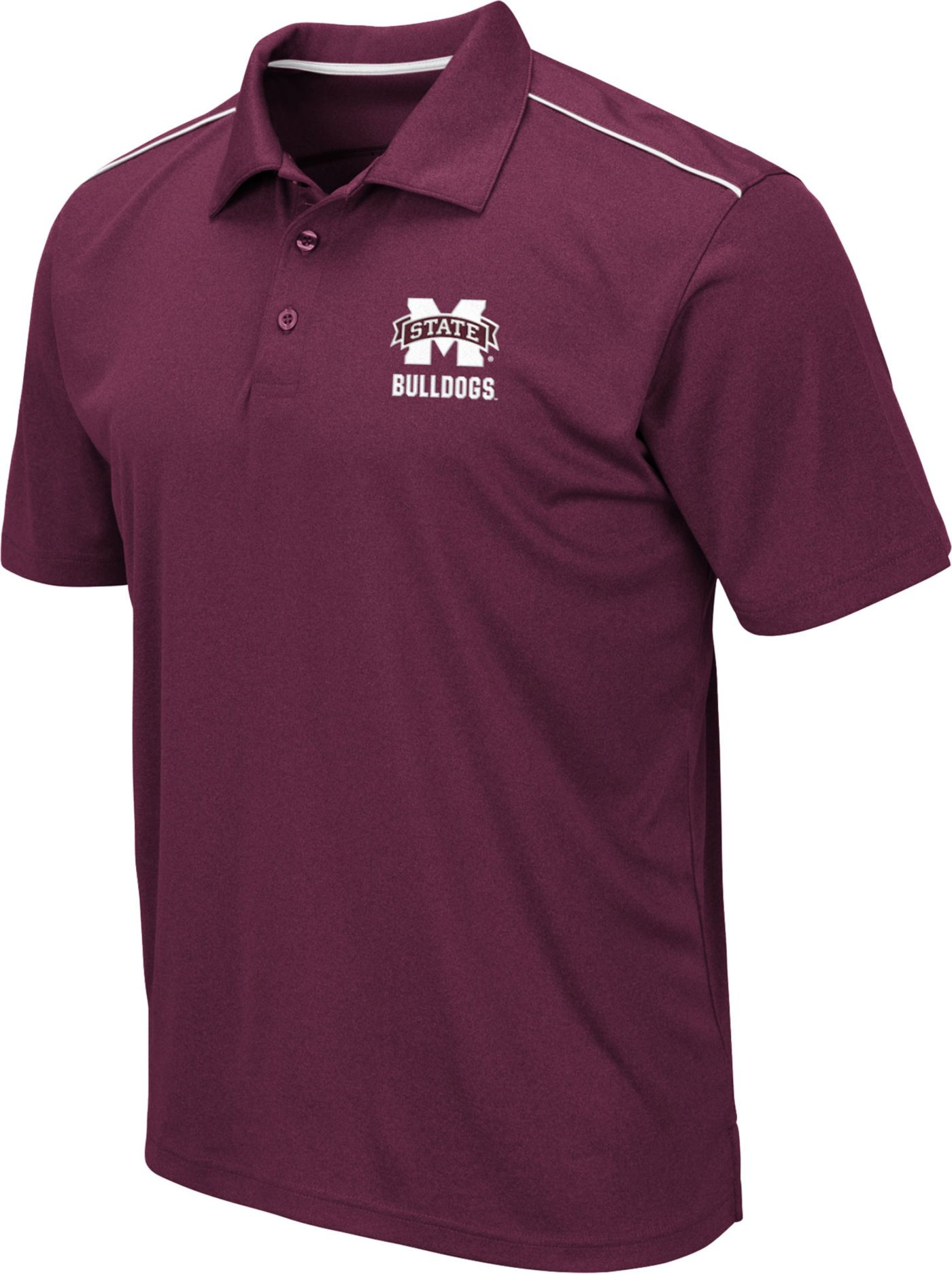 Colosseum Men's Mississippi State Bulldogs Maroon Eagle Polo