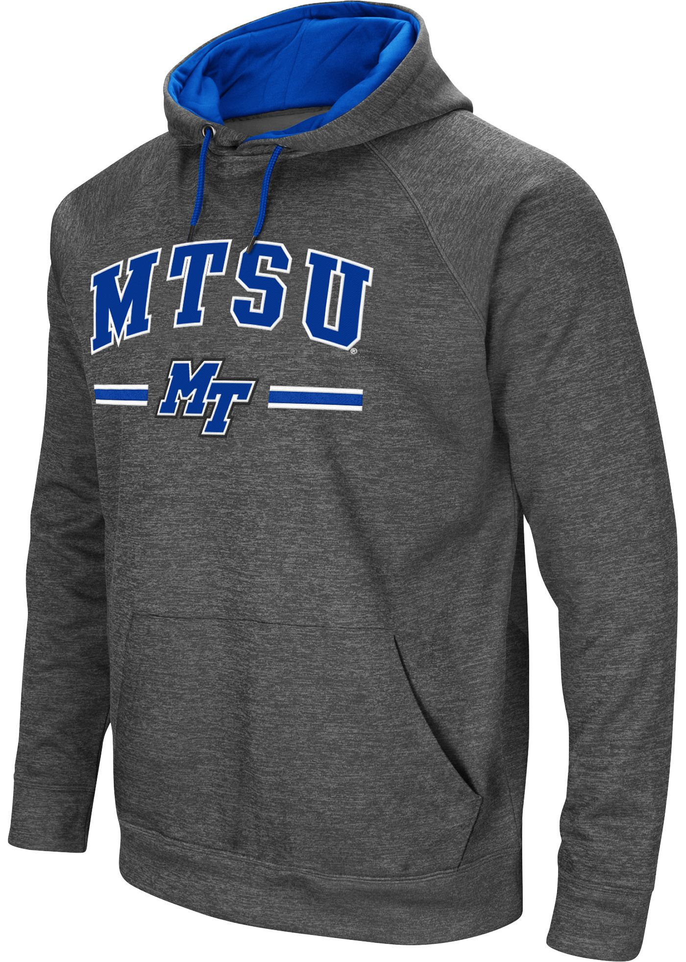Colosseum Men's Middle Tennessee State Blue Raiders Grey Pullover Hoodie