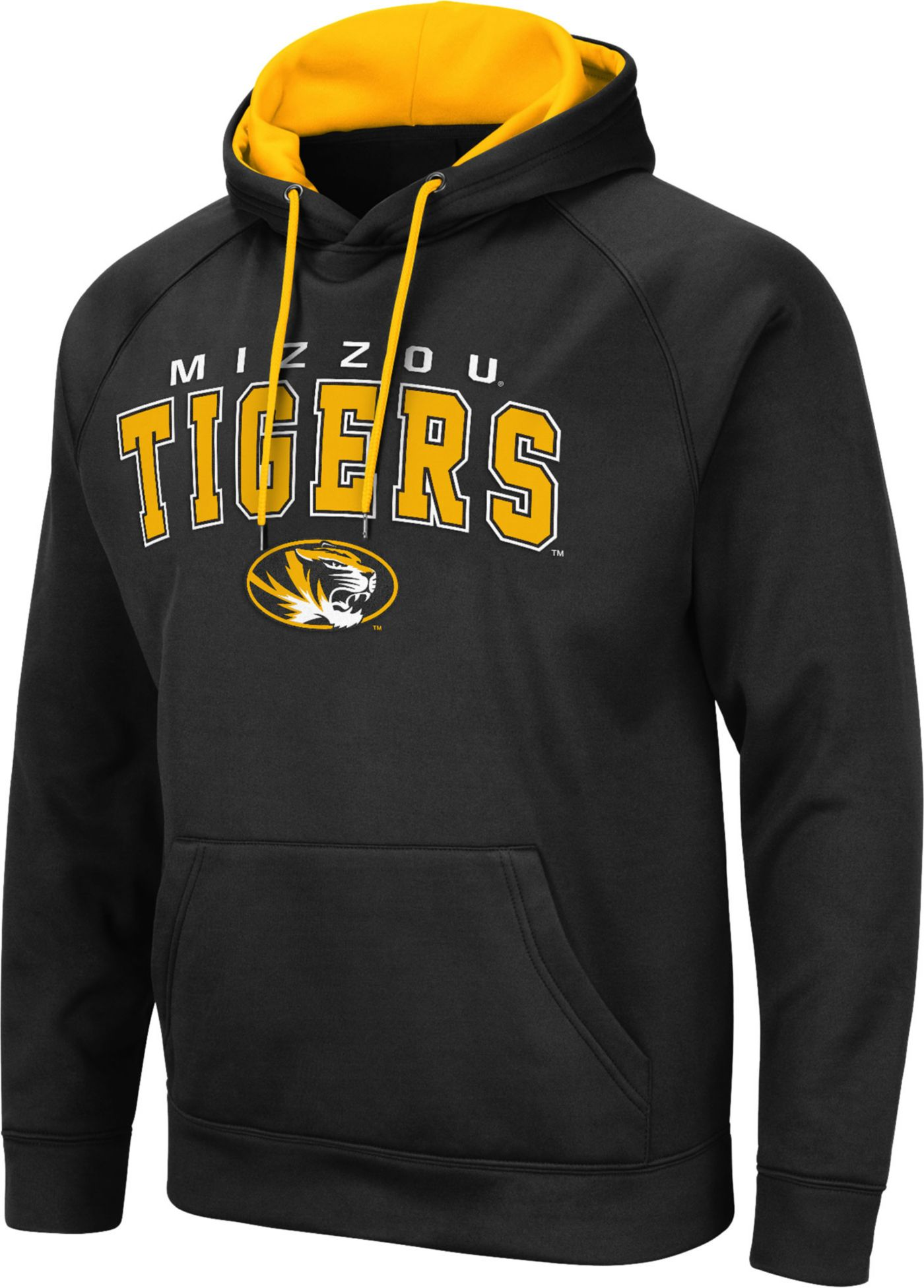 Colosseum Men's Missouri Tigers Pullover Black Hoodie