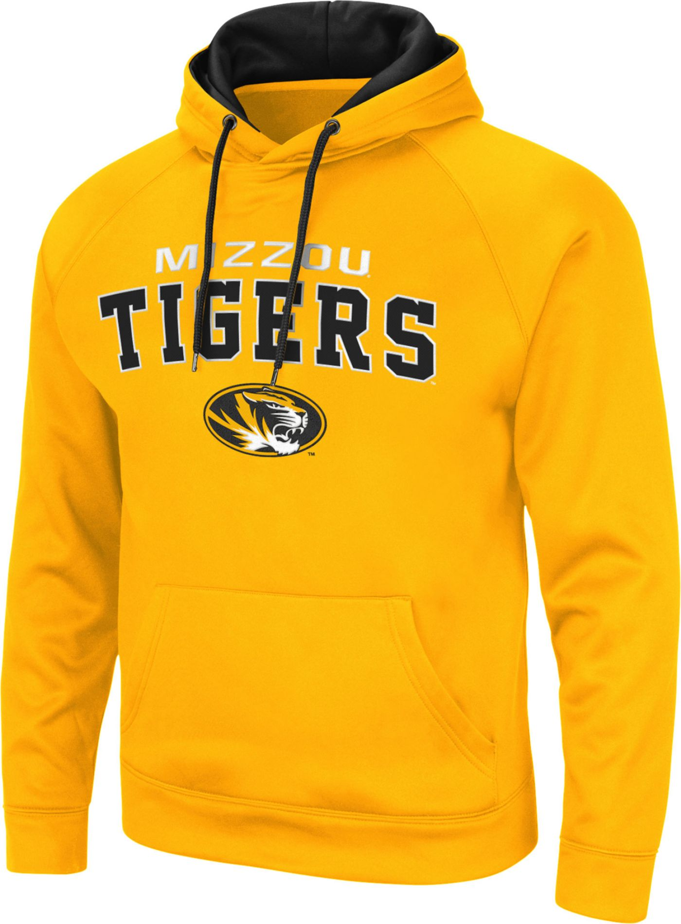 Colosseum Men's Missouri Tigers Gold Pullover Hoodie
