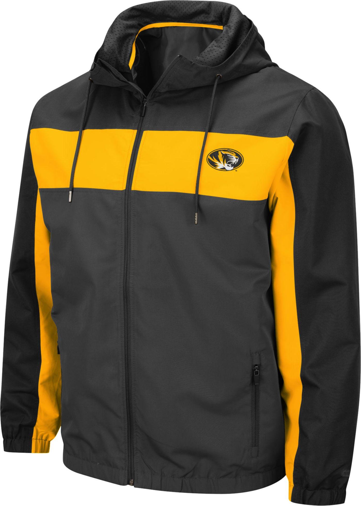 Colosseum Men's Missouri Tigers Grey Brockman Full-Zip Jacket