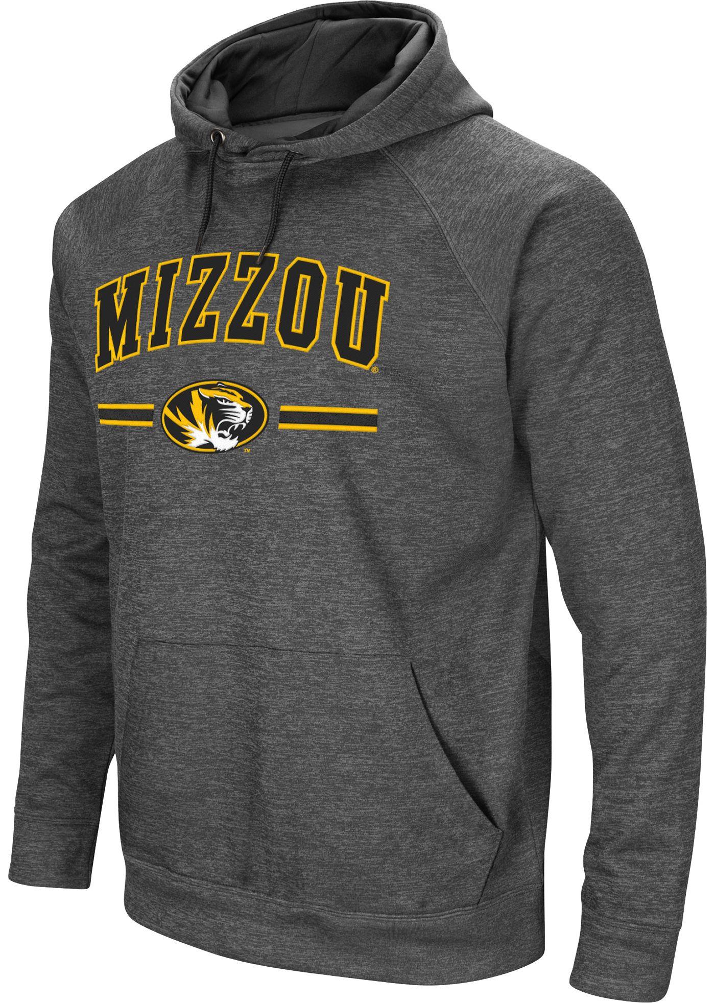 Colosseum Men's Missouri Tigers Grey Pullover Hoodie