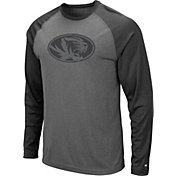 Colosseum Men's Missouri Tigers Grey Rad Tad Raglan Long Sleeve T-Shirt