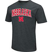 Colosseum Men's Nebraska Cornhuskers Dual Blend Black T-Shirt