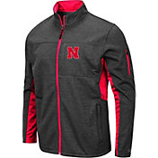 Colosseum Men's Nebraska Cornhuskers Grey Bumblebee Man Full-Zip Jacket