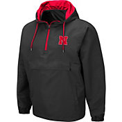 Colosseum Men's Nebraska Cornhuskers Grey Dolph Half-Zip Jacket
