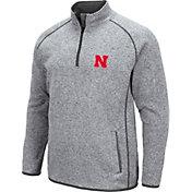 Colosseum Men's Nebraska Cornhuskers Grey Amur Quarter-Zip Shirt