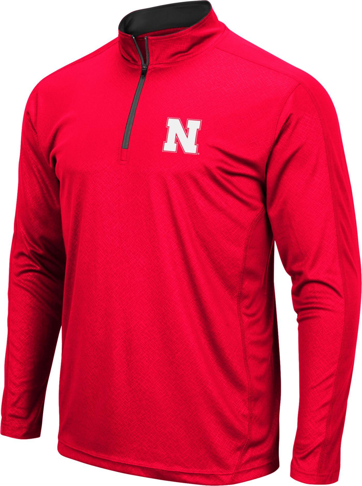 Colosseum Men's Nebraska Cornhuskers Scarlet Loggerhead Quarter-Zip Shirt