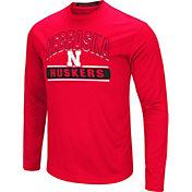 Colosseum Men's Nebraska Cornhuskers Scarlet Ganges Long Sleeve T-Shirt