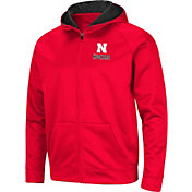 Colosseum Men's Nebraska Cornhuskers Scarlet Full-Zip Hoodie