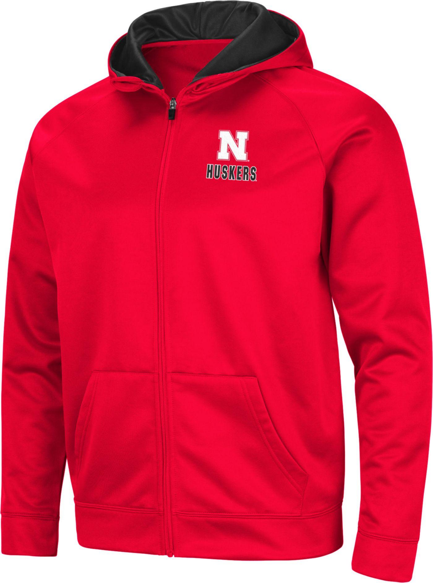 Colosseum Men's Nebraska Cornhuskers Scarlet Full-Zip Hoodie