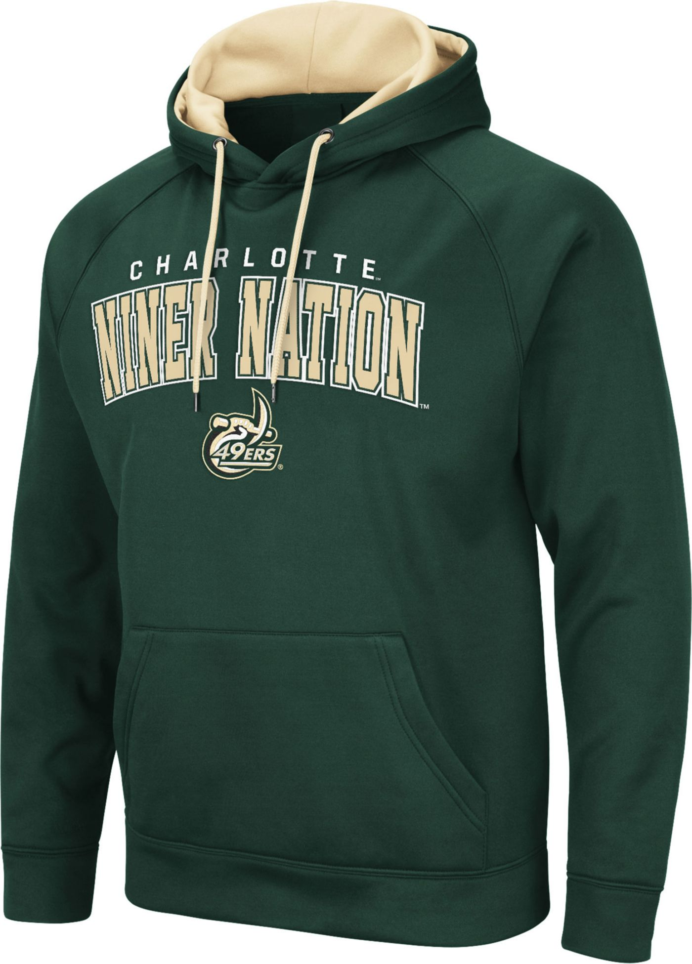 Colosseum Men's Charlotte 49ers Green Pullover Hoodie