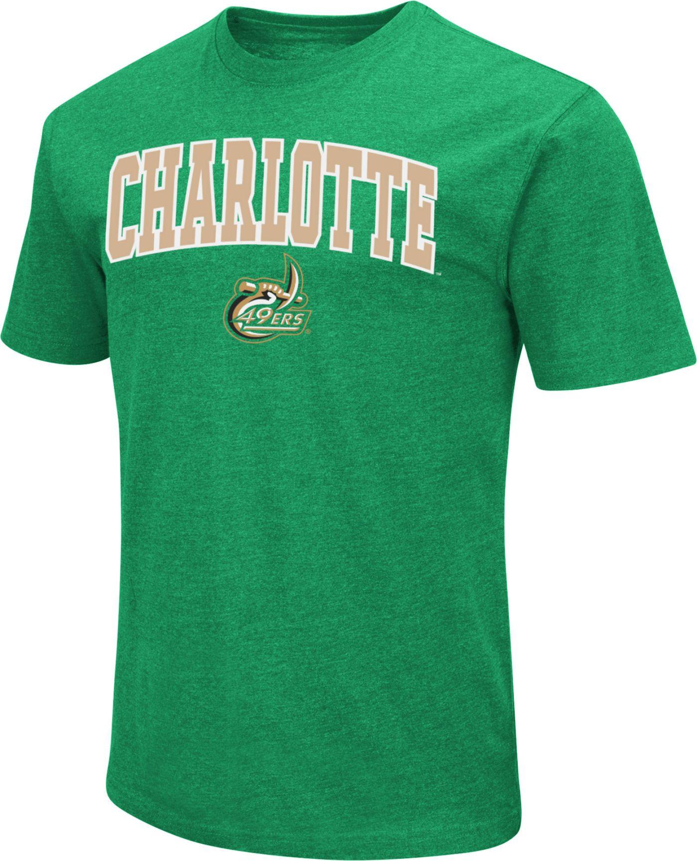 Colosseum Men's Charlotte 49ers Dual Blend Green T-Shirt