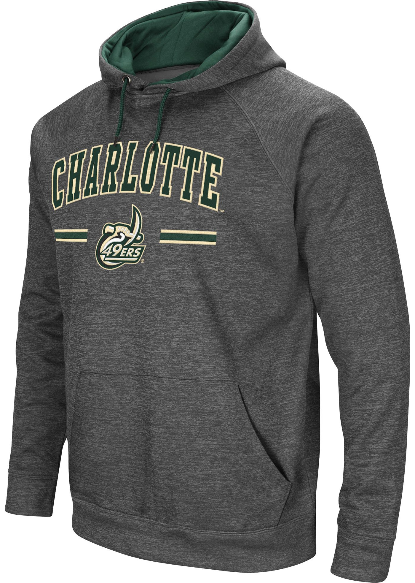 Colosseum Men's Charlotte 49ers Grey Pullover Hoodie