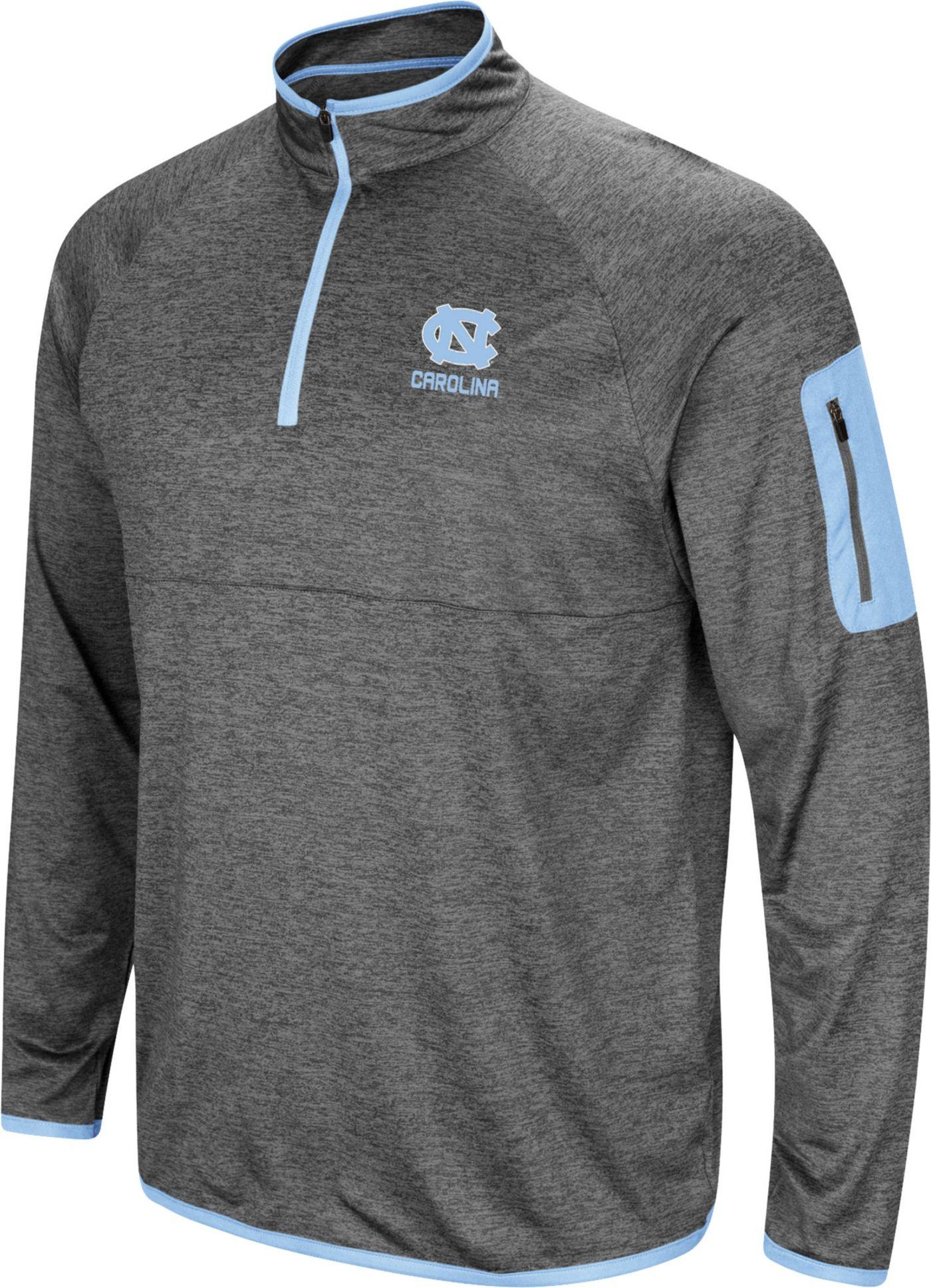Colosseum Men's North Carolina Tar Heels Grey Indus River Quarter-Zip Shirt