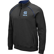 Colosseum Men's North Carolina Tar Heels Grey VF Staghorn Quarter-Zip Shirt