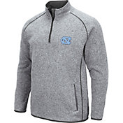 Colosseum Men's North Carolina Tar Heels Grey Amur Quarter-Zip Shirt