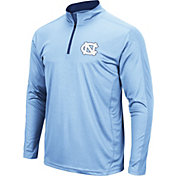 Colosseum Men's North Carolina Tar Heels Carolina Blue Loggerhead Quarter-Zip Shirt