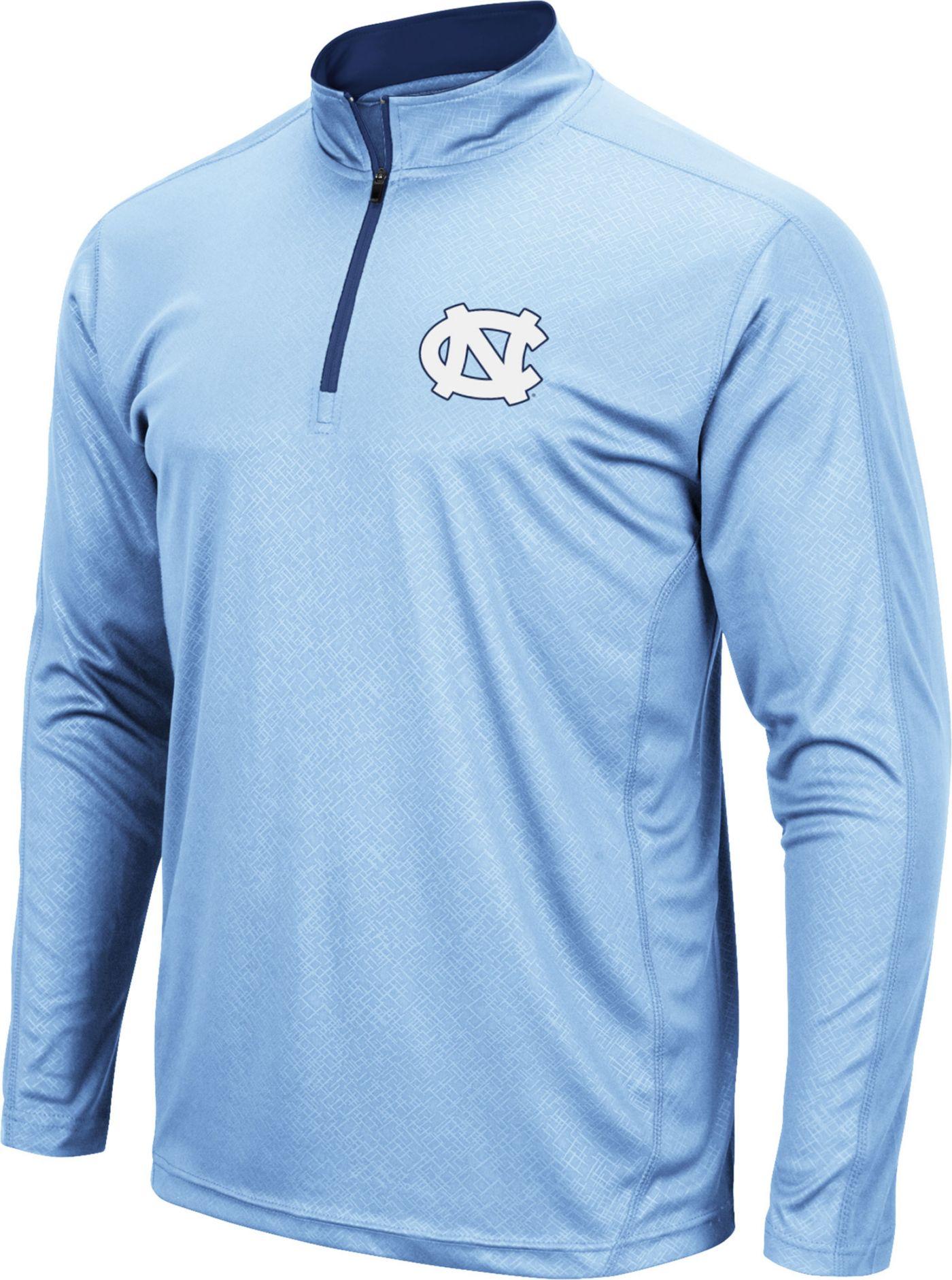 Colosseum Men's North Carolina Tar Heels Carolina Blue Loggerhead Quarter-Zip Shirt