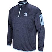 Colosseum Men's North Carolina Tar Heels Carolina Blue Indus River Quarter-Zip Shirt