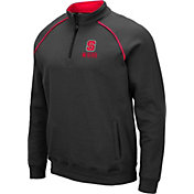 Colosseum Men's NC State Wolfpack Grey VF Staghorn Quarter-Zip Shirt