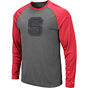 Colosseum Men's NC State Wolfpack Grey Rad Tad Raglan Long Sleeve T-Shirt