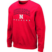 Colosseum Men's Nebraska Cornhuskers Scarlet Comic Book Crew Sweatshirt