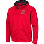 Colosseum Men's NC State Wolfpack Red Full-Zip Hoodie