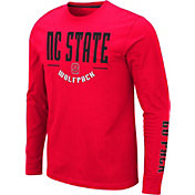 Colosseum Men's NC State Wolfpack Red Streetcar Long Sleeve T-Shirt