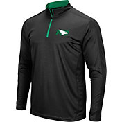 Colosseum Men's North Dakota Fighting Hawks Loggerhead Quarter-Zip Black Shirt