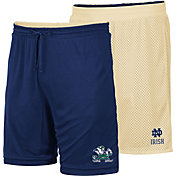 Colosseum Men's Notre Dame Fighting Irish Navy/Gold Wiggum Reversible Shorts