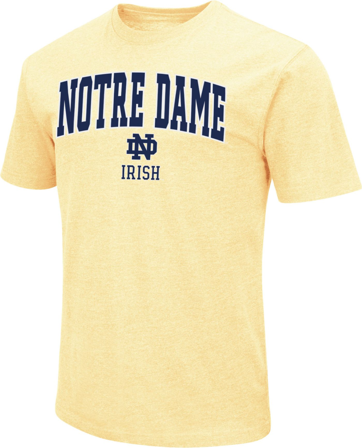 Colosseum Men's Notre Dame Fighting Irish Dual Blend Gold T-Shirt