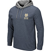 Colosseum Men's Notre Dame Fighting Irish Navy Milhouse Long Sleeve Hooded T-Shirt