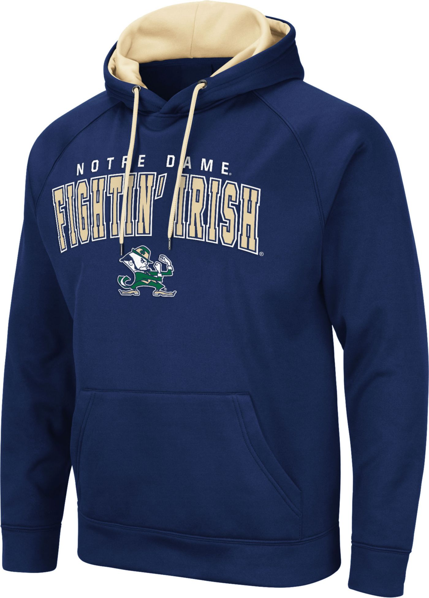 Colosseum Men's Notre Dame Fighting Irish Navy Pullover Hoodie