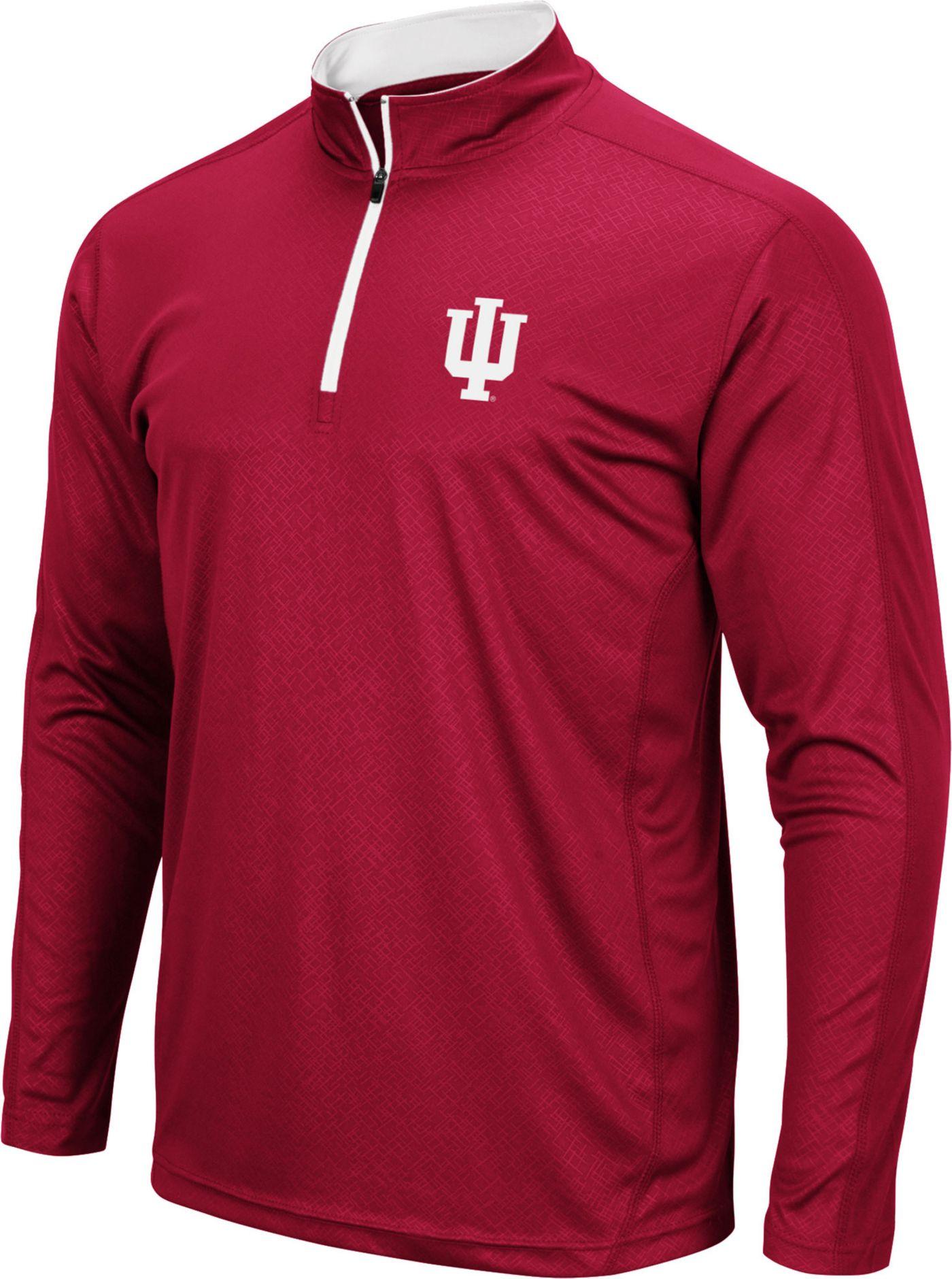 Colosseum Men's Indiana Hoosiers Crimson Loggerhead Quarter-Zip Shirt