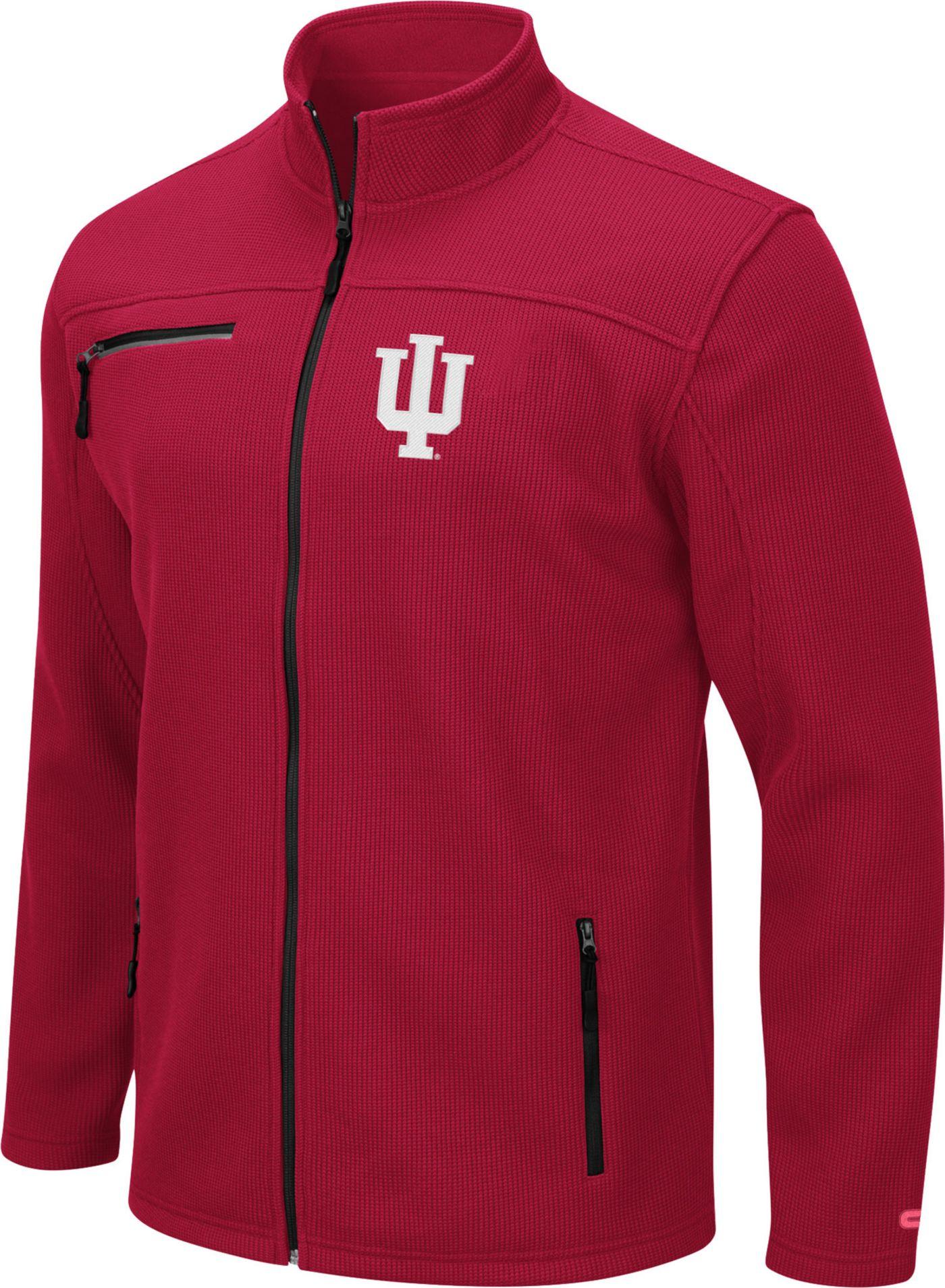 Colosseum Men's Indiana Hoosiers Crimson Willie Full-Zip Jacket