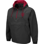 Colosseum Men's Indiana Hoosiers Grey Dolph Half-Zip Jacket