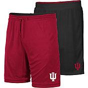 Colosseum Men's Indiana Hoosiers Crimson/Black Wiggum Reversible Shorts