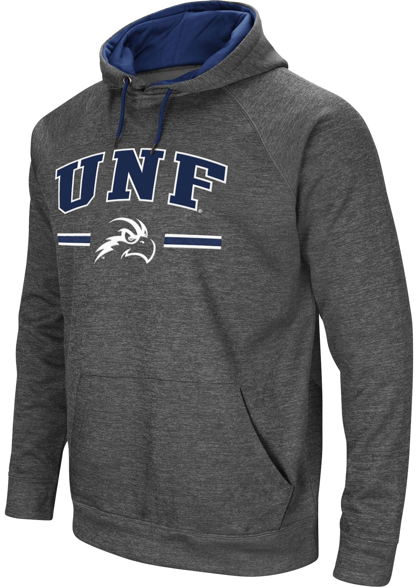 Colosseum Men's North Florida Ospreys Grey Pullover Hoodie