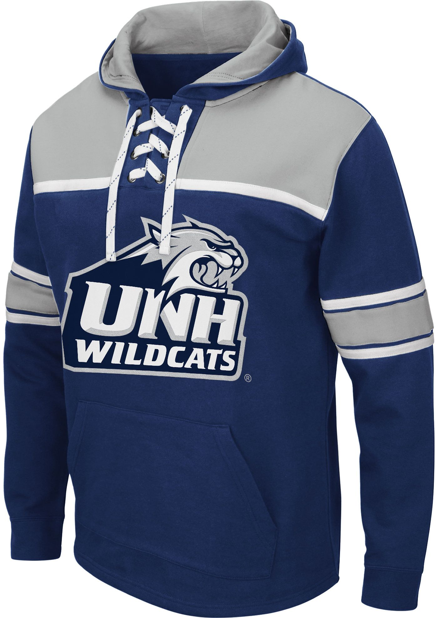 Colosseum Men's New Hampshire Wildcats Blue Skinner Hockey Pullover Hoodie